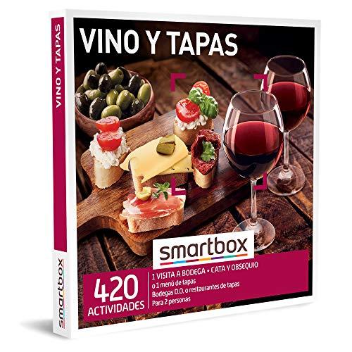 Smartbox - Caja Regalo Amor para Parejas - Vino y Tapas - Ideas Regalos Originales - 1 Visita a Bodega con cata y obsequio o 1 menú de Tapas para 2 Personas