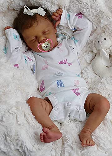 Anano Real Reborn Baby Dolls Soft Silicone Vinyl Life Size Newborn Babies Doll Reborn Todder Girl & Boy with Clothing Sets (White)