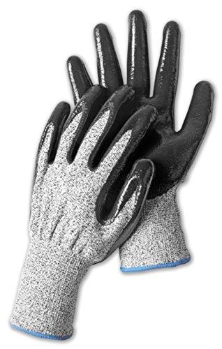 kaiser24 Schnittschutz-Handschuhe Nitrilbeschichtung Arbeitshandschuhe (9 (L))