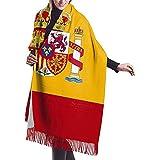 Bandera de España Manta de mujer Bufanda Bufandas de moda Abrigo cálido Mantón Chal Regalo de Navidad