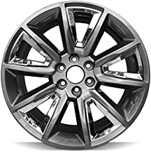 Road Ready Car Wheel For 2015-2018 Chevrolet Suburban 1500 Chevy Tahoe 22 Inch 6 Lug Hyper Black W Chrome Insert Aluminum Rim Fits R22 Tire - Exact OEM Replacement - Full-Size Spare