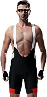 Santic Men's Pro 4D Padded Cycling Bib Short Black/White