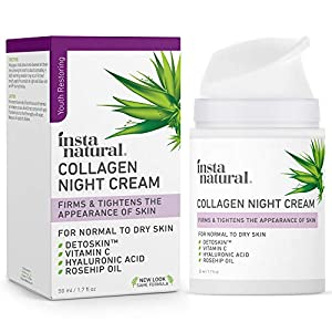 Anti aging products Collagen Night Anti Aging Cream – Anti Wrinkle Moisturizer for Face & Neck-