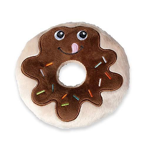 Karlie 521586 Hundespielzeug Plüsch Schoko Donut, 14 cm, braun