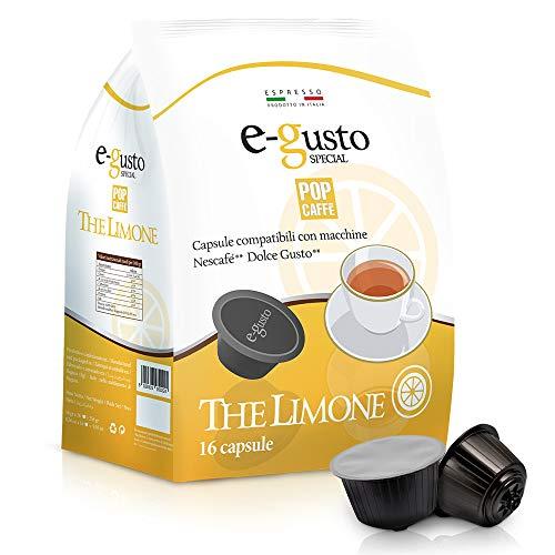 Pop Caffe' E-Gusto The Limone - 20 gr Compatibile Dolce Gusto, Confezione da 10 x 16 capsule