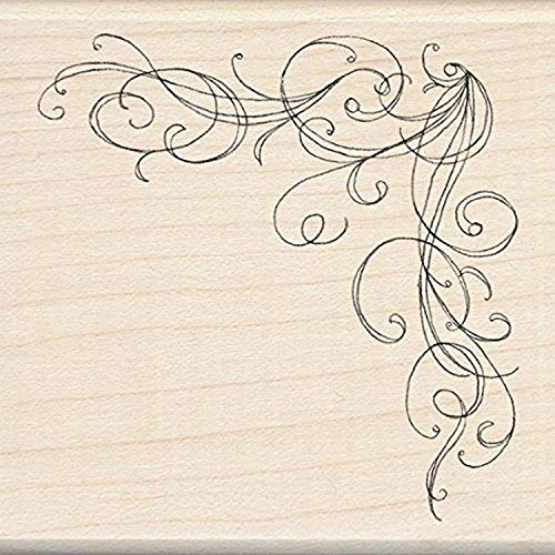 Unbekannt Inkadinkado Großer Holzstempel mit Bordüren-Akzent, 7,6 x 7,6 cm