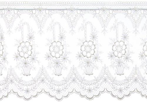Plauener Spitze by Modespitze, Tendina Corta Decorativa, Altezza: 46 cm, Beige (Champagner), Larghezza: 118 cm