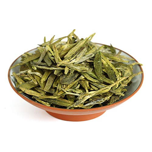 GOARTEA 250g (8.8 Oz) Organic West Lake Xihu Long Jing Longjing Dragon Well Spring Loose Leaf Chinese Green TEA Tee