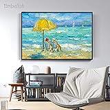 KWzEQ Imprimir en Lienzo Dos Mujeres en la Playa Carteles de Pared y decoración del hogar para Sala de estar60x90cmPintura sin Marco