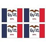 KIWISTAR Aufkleber 4,5 x 3 cm Iowa Des Mooines - Bundesstaat Autoaufkleber USA Flagge Länder Wappen Fahne Sticker Kennzeichen