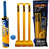 LYCAN Beast PVC Cricket Bat Kit (for All Age Groups, 0 Number for Age 2-3 Year; Yellow)