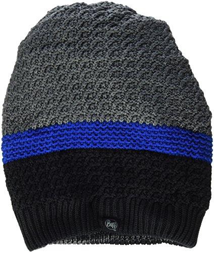 BUFF Knitted Chauffe-Cou A ridle Bonnet, multicolore (gris /Bleu /Noir), Taille unique