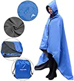 FANCYWING Hooded Stadium Blanket, Waterproof Windproof Outdoor Fleece Blanket,Wearable Portable Hooded Stadium Blanket for Outdoor Camping, Picnic, Sports,Concerts,Stadium,Travel, Car