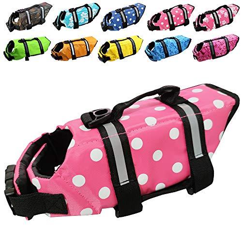 Dog Life Jacket Easy-Fit Adjustable Belt Pet Saver Swimming Safety Swimsuit Preserver...