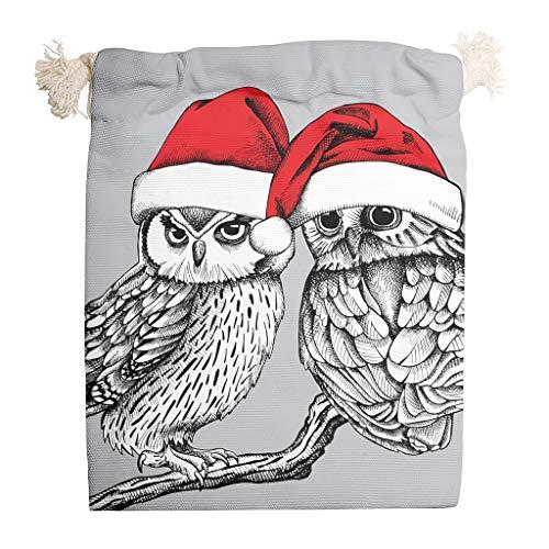 Rcerirt Christmas Animal Happy Multifunctionele bedrukte tas met trekkoordsluiting geschenken of kunsthandwerk