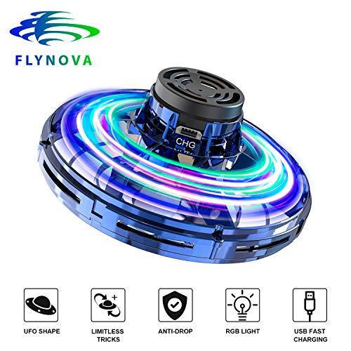 AXUAN Drohne Kinder, UFO Mini Drohnen, FlyNova Flugzeuge Spielzeug Fliegender Ball Handbetrieben, Infrarot Hubschrauber Quadrocopter mit 360°Rotierenden und LED-Leuchten, Geschenke für Jungen Mädchen
