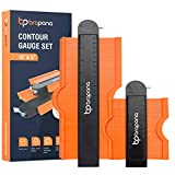 """Contour Gauge with Lock Set 10"""" and 5"""", Profile Duplicator Tool with Precision and Master Outline Plastic Measuring Templates & Duplication for Curves, Corners, Irregular Shapes, Woodworking Guide"""