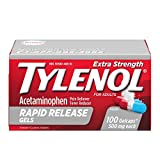 Tylenol Extra Strength Acetaminophen Rapid Release Gels, Pain Reliever & Fever Reducer, 100 ct
