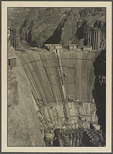 Infinite Photographs Foto: Cara de Abajo, Visera de Crucero, como se ve en el Punto de Mirada, Hoover Dam, 1934. Tamaño: 8 x 10 (App.