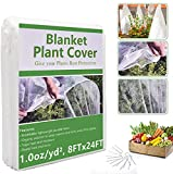 NBINGB Plant Covers Freeze Protection, 8 x 24 Ft Floating Row Cover Garden Fabric Plant Cover for Winter Frost Blanket Protection Sun Pest Protection Frost Cloth