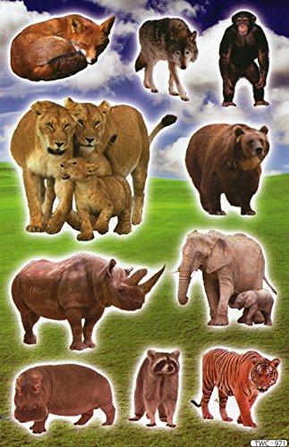 by soljo Hippo Singe Lion Animaux Decal Autocollant de décalque 1 Dimensions de la Feuille: 27 cm x 17 cm