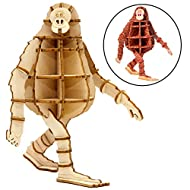 Missing Link Movie Mr. Link 3D Wood Model Figure Kit - Build, Paint and Collect Your Own Wooden Toy Model - Great for Kids and Adults, 8+ - 4.75""