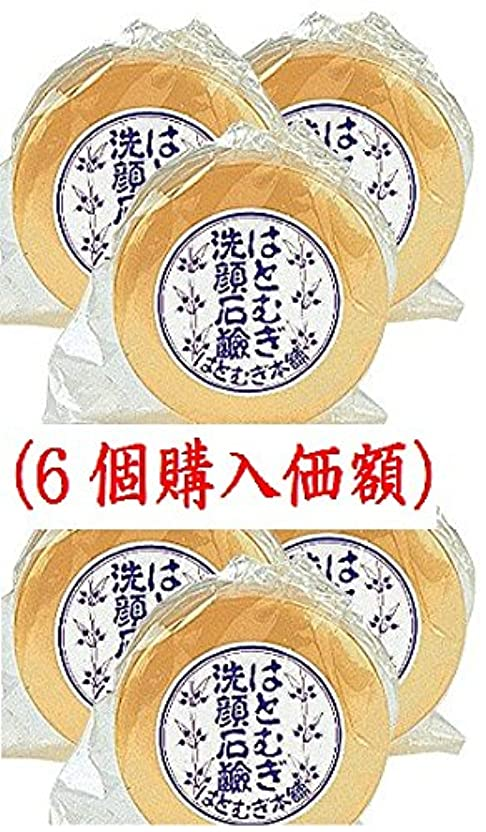 文字大惨事センターはとむぎ洗顔石鹸(6個購入価額)皇漢薬品研究所