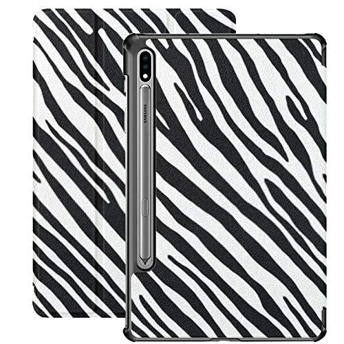 Funda Galaxy Tablet S7 Plus de 12,4 Pulgadas 2020 con Soporte para bolígrafo S, ilustración Vectorial Funda Protectora Tipo Folio con Soporte Delgado con patrón de Cebra Transparente para Samsung