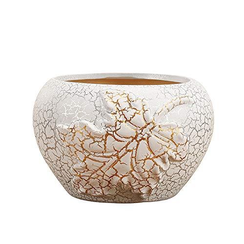 Maceta transpirable de gran diámetro de cerámica doméstico, adecuado para una variedad de espacios, plantación conveniente y alta practicabilidad, macetas plantas plantas de interior, macetas para pla
