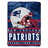 Officially Licensed NFL New England Patriots 'Stacked' Silk Touch Throw Blanket, 60' x 80', Multi Color