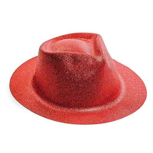 Chapéu Panamá Carnaval Masculino Feminino Vermelho