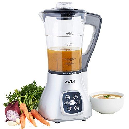Picture of VonShef Multifunctional Soup Maker, Blender & Smoothie Maker, Pulse, Steamer, Boiler 1.7 Litre Jug
