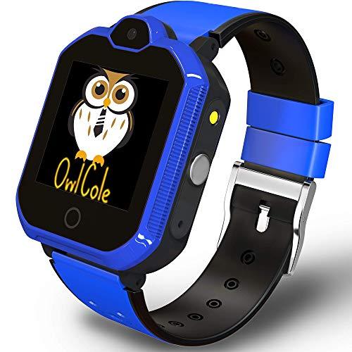 4G GPS Tracker Best Unlocked Wrist Smart Phone Watch for Kids with Sim Camera Video Call Flashlight Fitness Tracker Birthday for Children Boys Girls iPhone Android Smartphone (Dark Blue)