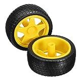 ILS - 2 Stück intelligenter Roboter-Auto Reifen Räder für Arduino TT Gear Motor Chassis