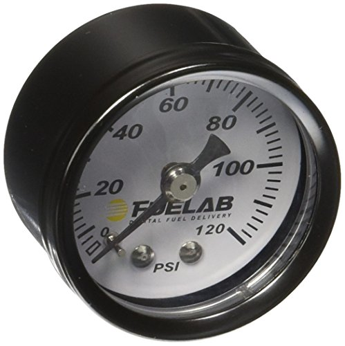 Fuelab 71501 1.5' 0-120 Psi EFI Fuel Pressure Gauge,Small