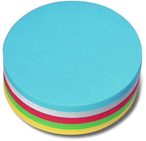 Nobo 1901305 - Cartoncini a cerchio Moderation, 250 Pezzi