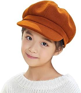 قبعات للأولاد والبنات للشتاء 8 ألواح للصبيان والصحف قبعة مسطحة من الصوف للأطفال الصغار، 2 إلى 7 سنوات