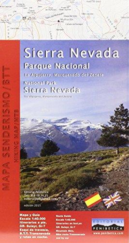 Mapa Parque Nacional de Sierra Nevada. Alpujarra, marquesado del Zenete. Escala 1:40.000. Editorial Penibética. (Mapa Y Guia)