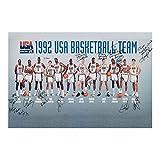 1992 Dream Team USA - Póster de baloncesto para decoración de pared de 24 x 36 pulgadas, material de lona sin marco