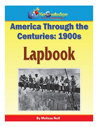 America Through the Centuries - 1900s Lapboook (English Edition)