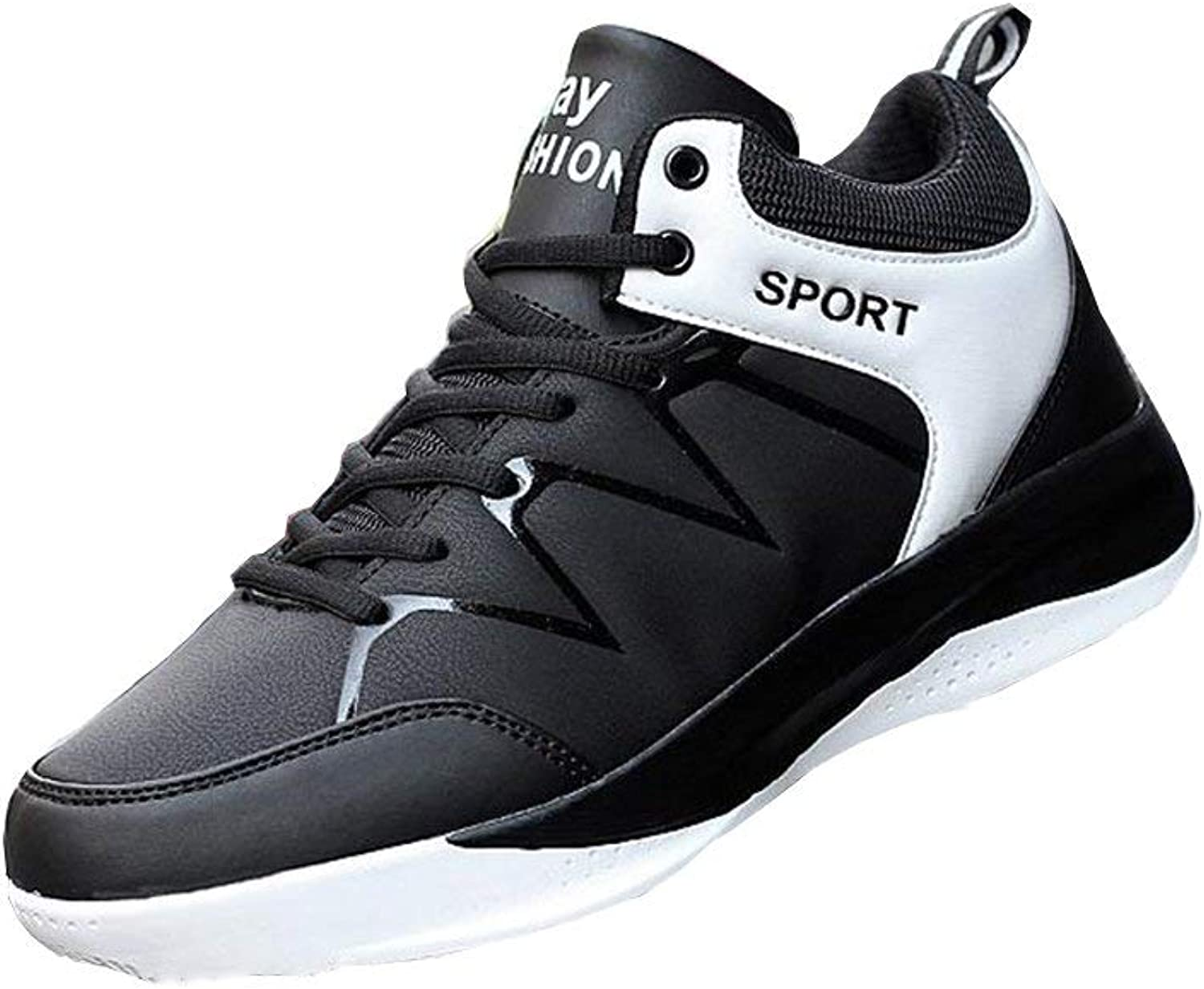 Dsx Autumn and Winter Men's shoes Korean High shoes Sports and Leisure, white, EU39 UK6 CN39
