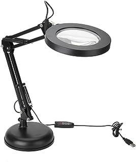 5X Magnifying Lamp LED Magnifier Lamp Desktop Magnifier Lamp, Eyeliner Manicure Tattoo Magnifying Lamp, Desktop Study Tatt...