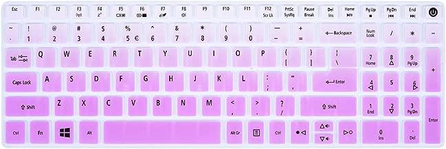 Keyboard Cover Compatible Acer Aspire E15 E5-573G E5-575 E5-576G ES15 ES1-572|Aspire E17 E5-772G|Aspire V15 VN7-592G/V17 VN7-792G/F15 F5-571 F5-573G|Aspire A315 A515 A715 Keyboard Skin, Gradual Purple