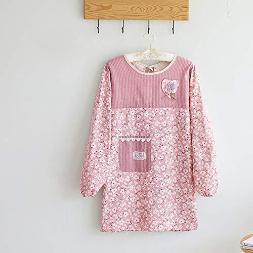 HKGT schort keuken, lange mouwen Smock, waterdichte overalls werken met zak, volwassen jurk voor koken en BBQ(88 * 55cm)