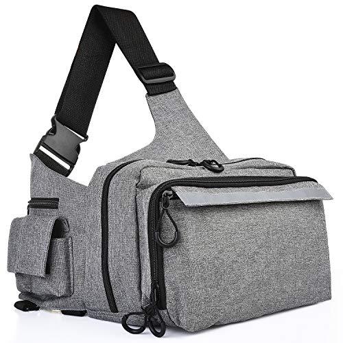 多機能 釣りバッグ 釣り袋 - 釣り用 ヒップバッグ 肩掛け可能 軽量 ウエストバッグ 大容量 - 釣具タックル バッグ ツールバッグ 自転車 アウトドア 登山 旅行用