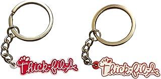 THICK-FIL-A Keychain | Cute Keychain for Girlfriend or Boyfriend, Best Friend Keychain, Funny Keychains, Car Key Chain