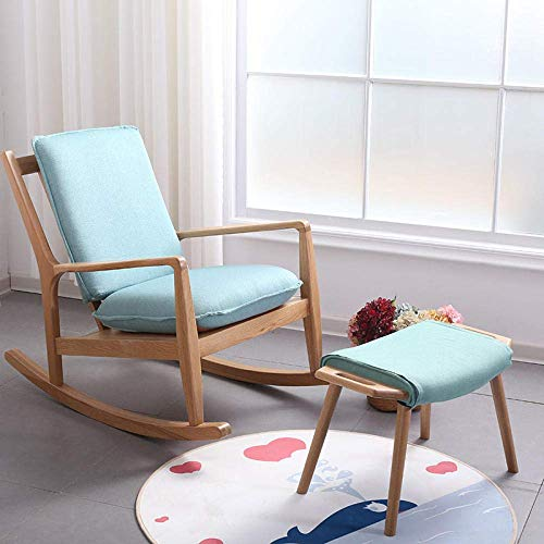 H.aetn Chaise en Bois Massif Outdoor Leisure Rocking Chair Bedroom Living Recliner Office Armchair Bearing Weight 200Kg - Wood Color