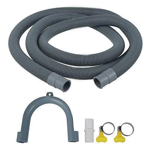Tubo Scarico per Lavatrice 2 metri Morbido Tubo Prolungo per Lavatrice e Lavastoviglie Universale (2m-20mm)