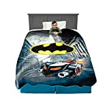 BATMAN DESIGN: Keep your little superhero warm and well rested with this plush blanket featuring the Batmobile and Batman logo. SOFT PLUSH QUALITY: Your little superhero will feel safe and cozy wrapped in this soft blanket made from super soft plush ...