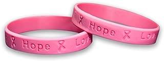 Breast Cancer Pink Silicone Bracelets - 25 Adult Bracelets